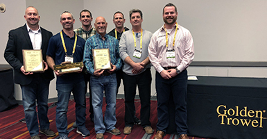 Christman Constructors Inc. Receives Golden Trowel Award for Industrial Concrete Floor Construction