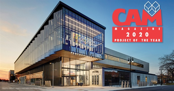 The Henry Ford Detroit Pistons Performance Center Named CAM Magazine Project of the Year 2020